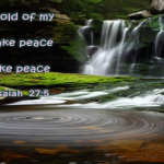 Strength and Peace Bible Promise water fall