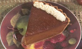 Vegan Thanksgiving Dessert: Old-Fashioned Baked Pumpkin Pie