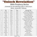 Unlock Revelation schedule for Beloit, Delavan and Janesville churches